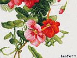 Набір для вишивки хрестиком ЛанСвит «Настурції» А-003, фото 8