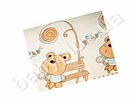 """Одеяло """"Мишка на скамейке"""".Велсофт.Размер 92х140 см."""