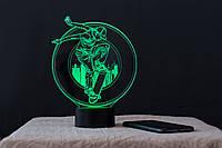 "3D светильник-ночник  ""Скейтбордист"" 3DTOYSLAMP, фото 1"