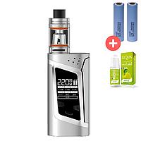 Электронная сигарета SMOK Alien Kit 220W Quality Replica. Вейп. Серый. Silver, фото 1