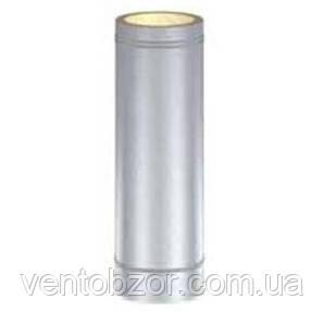 Дымоход утепленный (труба) ф110/190 мм нержавейка/оц.
