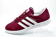 Женские кроссовки в стиле Adidas Hamburg, Бордовые