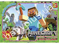 Пазлы картонные, 70 эл. формат А4 Minecraft (Майнкрафт)