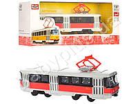 Трамвай металл, инер-й, 1:54, 16,5см, в коробке