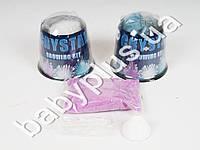 Набор для творчества, растущий кристалл, 3 цвета, в колбе 7,5см, 12шт в дисплее (цена за 1шт)