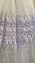 Красивая, нежная тюль Веночек 847-mr, фото 3