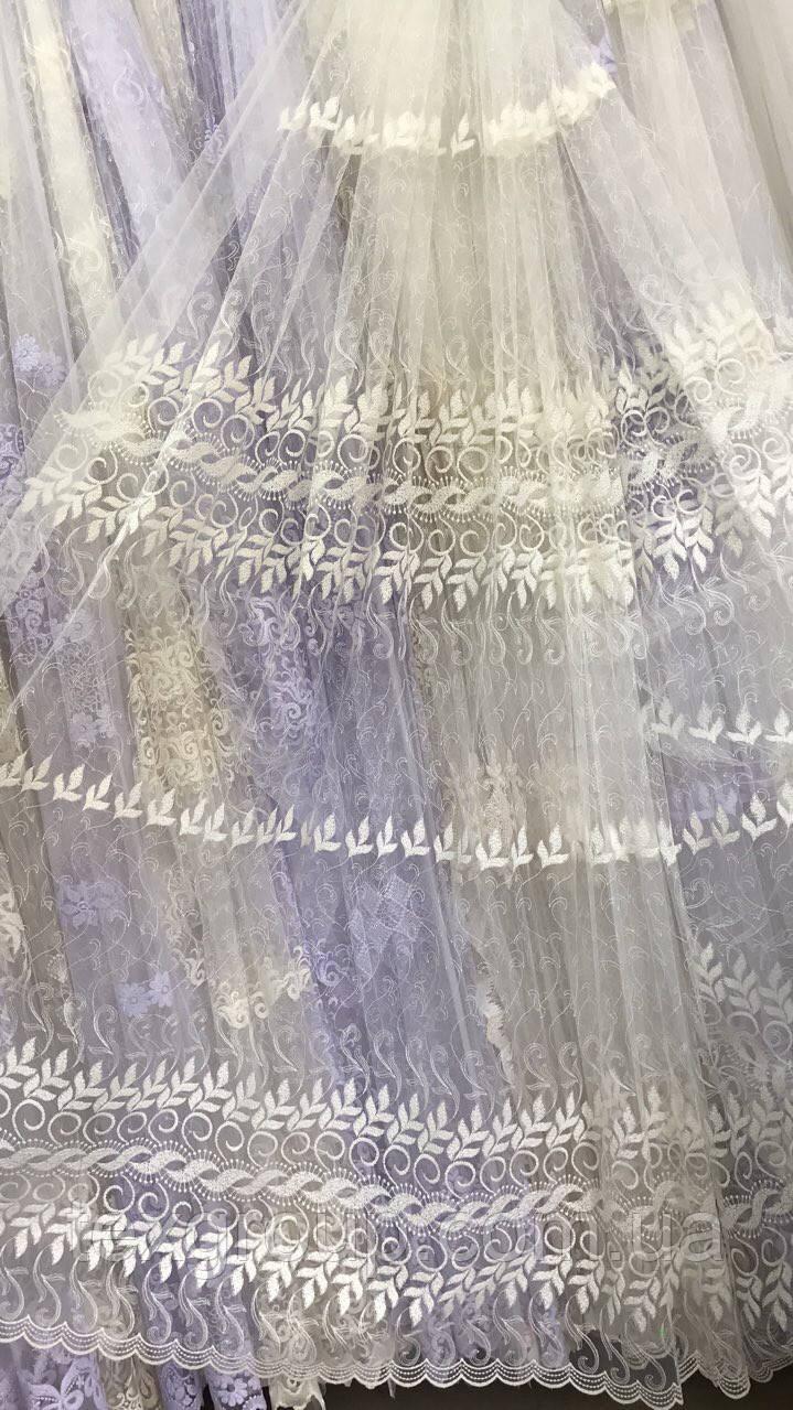 Красивая, нежная тюль Веночек 847-mr