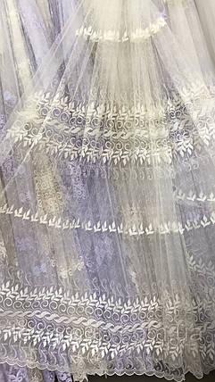 Красивая, нежная тюль Веночек 847-mr, фото 2