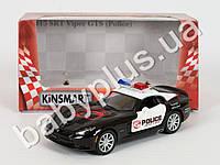 Hoku Машинка метал KINSMART инер-я, полиция, 1:36 2013 DODGE VIPER GTS POLICE, открываются двери, резиновые колеса, 4 цвета, в к