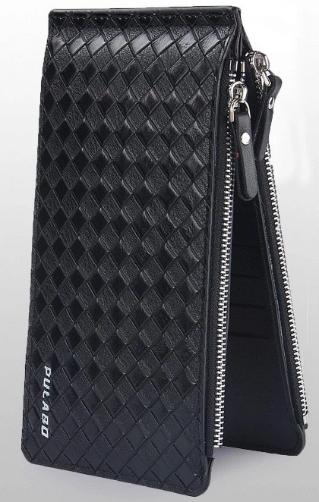 Женский кошелек PULABO Fashion кожаный клатч на молнии Черный (SUN0581)