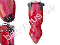 Мешок боксерский Силуэт(h-1.2 м, ткань ПВХ 0,7 мм, нап.-ветош х/б, обрезь кожи)
