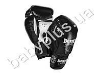 Перчатки боксерские 6oz (кожа 0,8-1мм, нап. -пенопоролон) черные