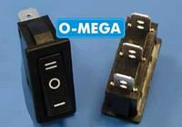 Кнопочный выключатель, Клавиша узкая, 3 положения с фиксацией 28,0 * 11,0 мм.