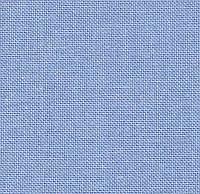 Ткань сорочечная для вышиванок №30 цвет насыщенный голубой (под крестик)