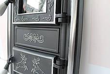 """Дверцы печные со стеклом """"OSKAR"""" 345х560. Дверцы для печи кухни барбекю, фото 3"""
