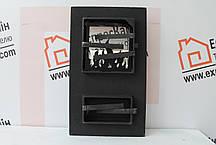"""Дверцы печные со стеклом """"MORIS"""" 310х520. Дверцы для кухни, барбекю, фото 3"""