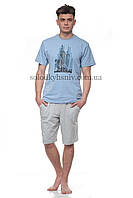Піжама чоловіча ELLEN шорти+футболка Місто Ч-020 001 M 116b423fc8513