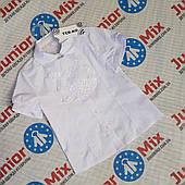 Школьная блузка для девочек со съёмным жабо оптом TERKO