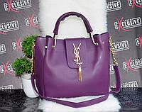 Сумка премиум класса Ив Сен Лоран фиолетовая., фото 1