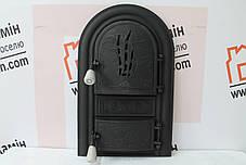 """Дверцы печные со стеклом """"Бамбук"""" черный Чугунная дверка для печи барбекю, фото 2"""