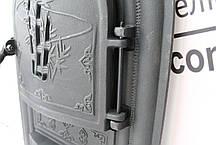 """Дверцы печные со стеклом """"Бамбук"""" черный Чугунная дверка для печи барбекю, фото 3"""