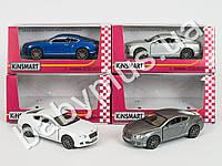Hoku Машинка метал KINSMART инер-я, 1:38 2012 BENTLEY CONTINENTAL GT SPEED, откр.двери, резиновые колеса, 4 цвета, в кор-ке