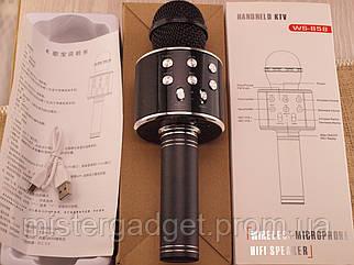 Безпровідний мікрофон караоке WS-858 з Bluetooth Black