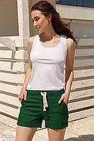 Короткие льняные шорты