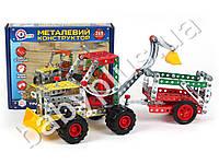 Конструктор металлический Трактор с прицепом