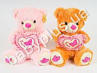 Мягкая игрушка Медведь с сердцем, , муз (поет песню про мишку)