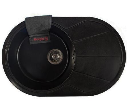 Мойка гранитная OVC-775x500 (черный)