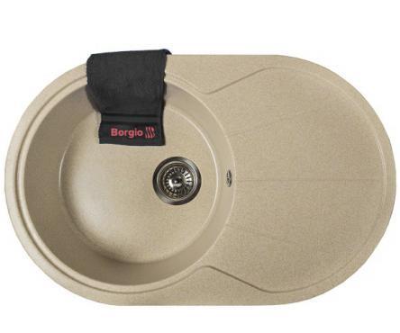 Мийка гранітна OVC-775x500 (бежевий)