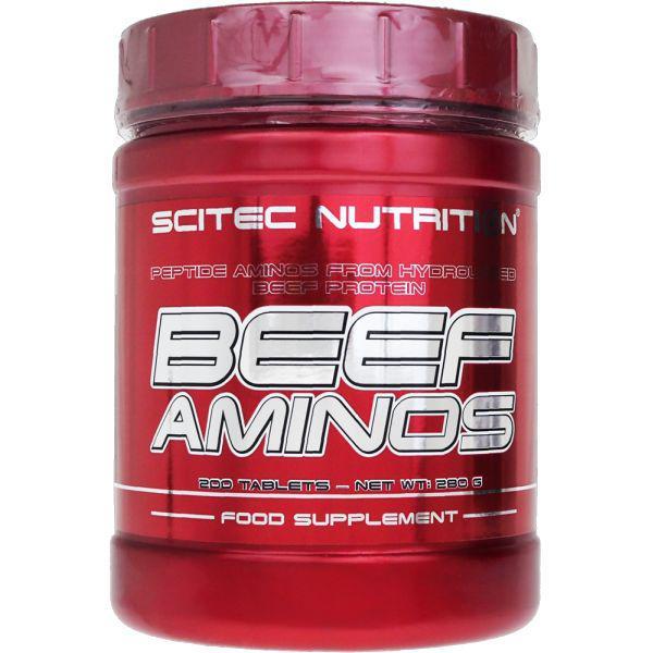Амінокислота Scitec Nutrition Beef Aminos 200 tabs