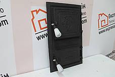 """Дверцы печные """"Лев"""" чёрный Чугунная дверка для печи барбекю, фото 2"""