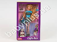 Кукла DEFA, сумочки, подарки, туфли, аксессуары, 2 цвета, в кор-ке