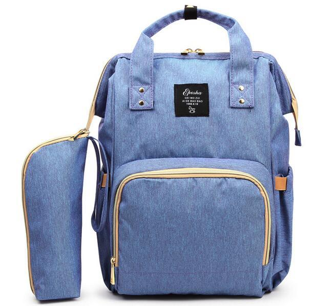 2e0ede846a3a Рюкзак-сумка для мамы   детских вещей + термосумка для бутылочки (голубой) -