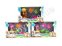 Брызгалка Little Pony, для купания, лошадка, 6см, аксессуары, 3 вида, в коробке
