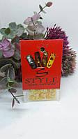 Фигурный дизайн для ногтей желтый