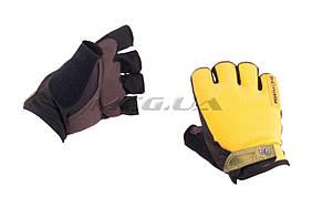 Перчатки без пальцев   (size:XL, желтые)   FOX