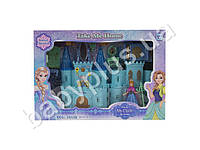 Замок Frozen, для принцессы, 23см, музыка, свет, мебель, фигурка 10см, на бат-ке (табл), в кор-ке