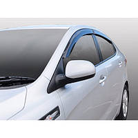 Azard Дефлекторы окон на Kia Rio III '11- седан (ПК, накладные)