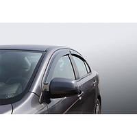 Azard Дефлекторы окон на Mitsubishi Lancer X '07- седан (ПК, накладные)