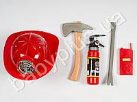 Zhorya Набор пожарника, каска, топор, огнетушитель, в сетке