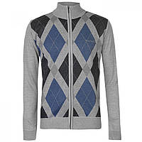 Кофта Pierre Cardin Full Zip Argyle Silver/blue - Оригинал, фото 1