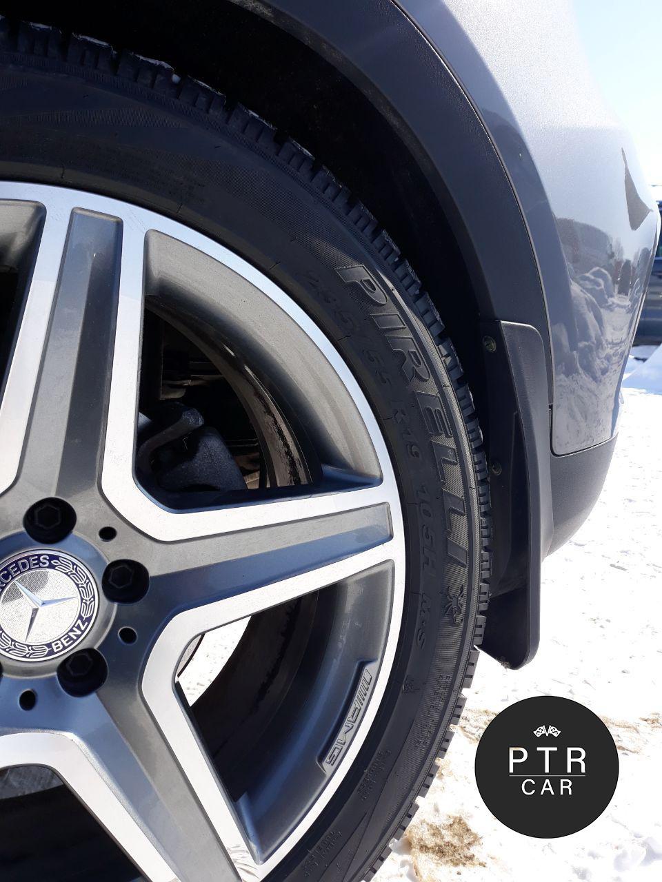 Брызговики Mercedes GLE 166 2015- SUV AMG - без порогов (полный кт-4 шт)