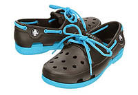 Туфли-мокасины Crocs Kids Beach Line Boat  (Крокс), фото 1