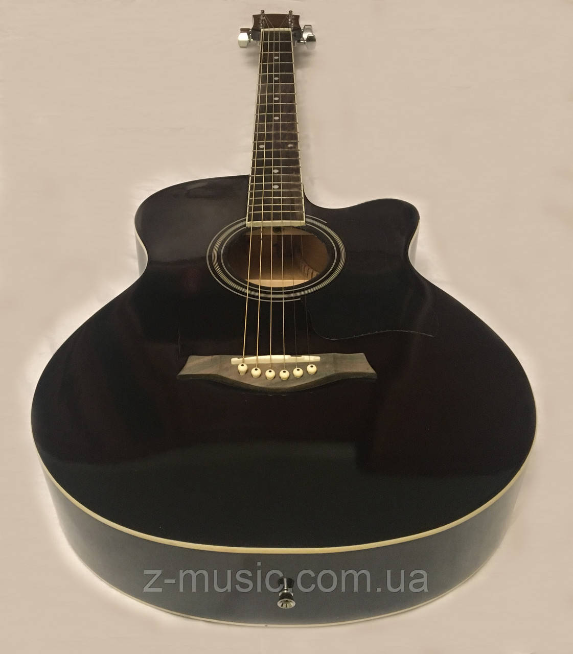 Акустическая гитара полноразмерная (4/4) FANNDEC BK + Каподастр, Медиатор, Ключ