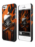 Cases for iphone, Чехол для iPhone 4/4s/5/5s/5с, Apple skull on fire, череп в огне