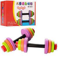 Деревянная игрушка Гантели MD 1019
