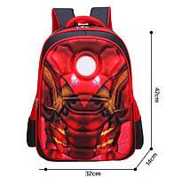 """3D Рюкзак дошкольника """"Iron man""""/ Залізна людина m6"""